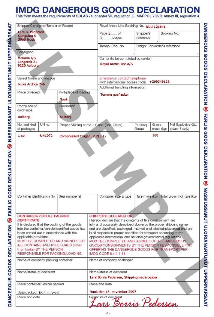 Hazardous Materials/Dangerous Goods Regulations